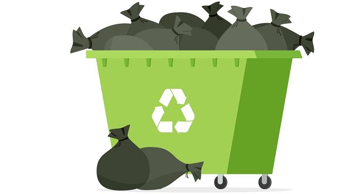 Kontener na odpady, gruz i śmieci